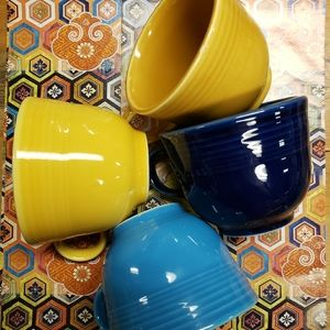 (4) Fiesta tea cups!